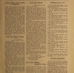 Alumni News, Vol. 2 No. 1, November 1, 1918