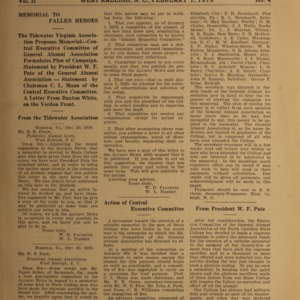Alumni News, Vol. 2 No. 4, February 1, 1919