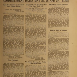 Alumni News, Vol. 2 No. 7, May 1, 1919