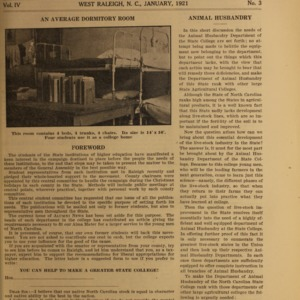 Alumni News, Vol. 4 No. 3, January 1921