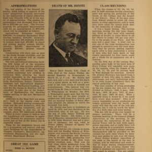 Alumni News, Vol. 4 No. 6, April 1921