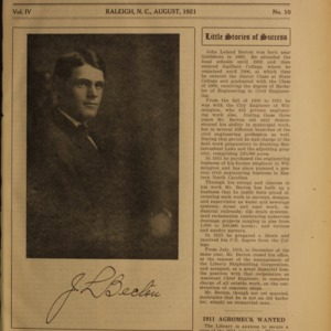 Alumni News, Vol. 4 No. 10, August 1921