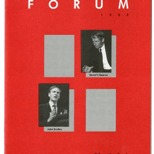 1989 Emerging Issues Forum Program