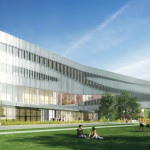 James B. Hunt Library rendering -- West Facade
