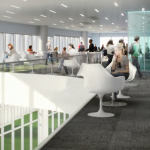 James B. Hunt Library rendering -- Fishbowl