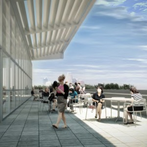 James B. Hunt Library rendering -- Terrace