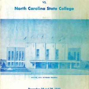Program, Men's basketball, North Carolina State versus Michigan, 19 December to 20 December 1949