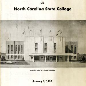 Program, Men's basketball, North Carolina State versus San Francisco, 3 January 1950