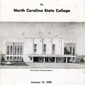 Program, Men's basketball, North Carolina State versus William and Mary, 12 January 1950