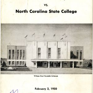 Program, Men's basketball, North Carolina State versus Wake Forest, 2 February 1950