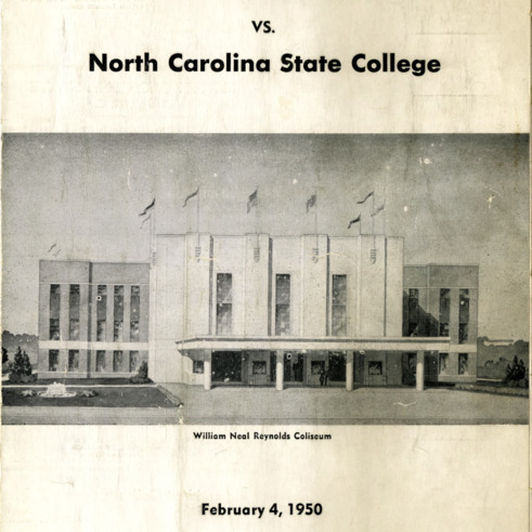 Program, Men's basketball, North Carolina State versus Furman, 4 February 1950