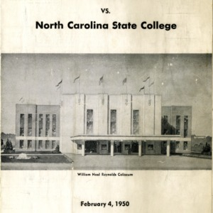 Program, Men's basketball, North Carolina State versus Furman, 4 February 1950