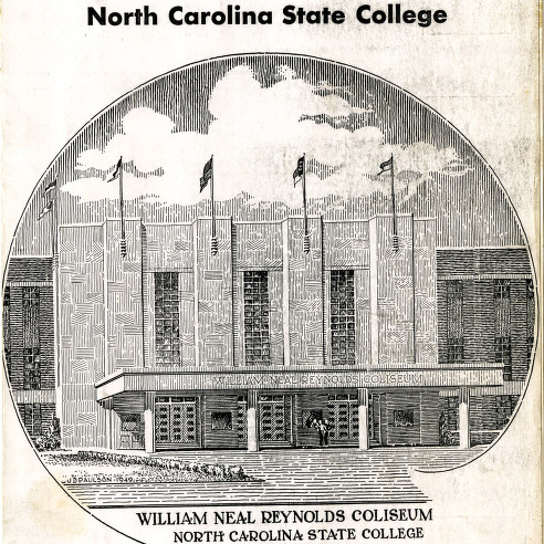 Program, Men's basketball, North Carolina State versus Duke, 14 February 1950