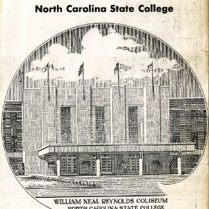 Program, Men's basketball, North Carolina State versus University of North Carolina at Chapel Hill, 21 February 1950