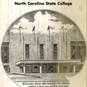 Program, Men's basketball, North Carolina State versus Villanova, 25 February 1950