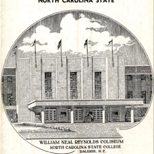Program, Men's basketball, North Carolina State versus Southern Conference All-Stars, 18 March 1950
