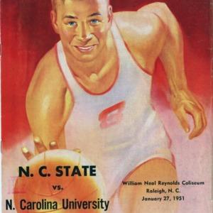Program, Men's basketball, North Carolina State versus University of North Carolina at Chapel Hill, 27 January 1951