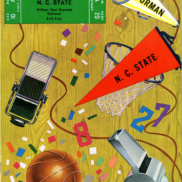 Program, Men's basketball, North Carolina State versus Furman, 2 December 1952
