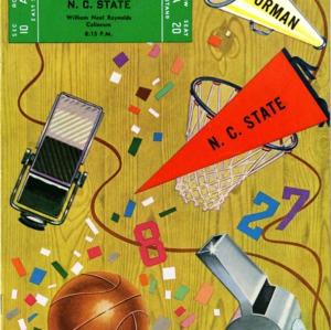Program, Men's basketball, North Carolina State versus Furman, 2 December 1952