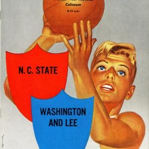 Program, Men's basketball, North Carolina State versus Washington and Lee, 4 December 1952