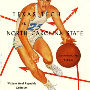 Program, Men's basketball, North Carolina State versus Texas Tech, 20 December 1952