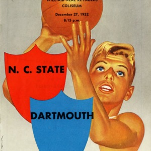 Program, Men's basketball, North Carolina State versus Dartmouth, 27 December 1952