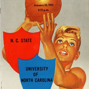 Program, Men's basketball, North Carolina State versus University of North Carolina at Chapel Hill, 24 January 1953