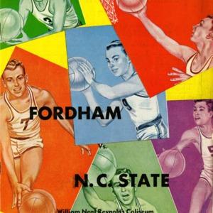Program, Men's basketball, North Carolina State versus Fordham, 24 February 1953
