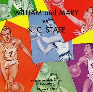 Program, Men's basketball, North Carolina State versus William and Mary, 7 February 1953