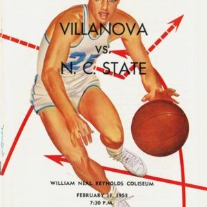 Program, Men's basketball, North Carolina State versus Villanova, 11 February 1953