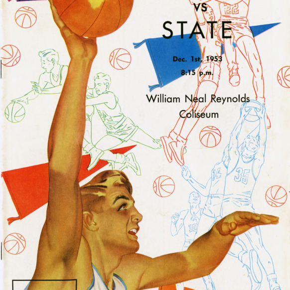 Program, Men's basketball, North Carolina State versus Furman, 1 December 1953