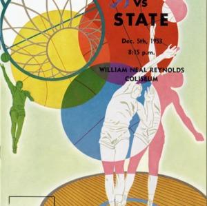 Program, Men's basketball, North Carolina State versus Davidson, 5 December 1953