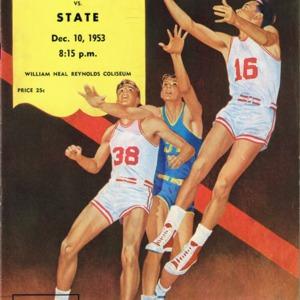 Program, Men's basketball, North Carolina State versus Phillips 66 Oilers, 10 December 1953