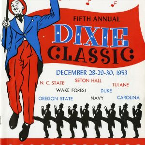 Program, Men's basketball, Dixie Classic, 5th Annual, 28 December to 30 December 1953