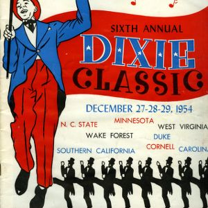 Program, Men's basketball, Dixie Classic, 6th Annual, 27 December to 29 December 1954
