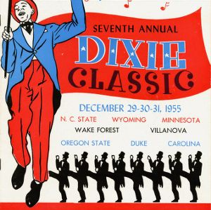 Program, Men's basketball, Dixie Classic, 7th, 29 December-31 December 1955