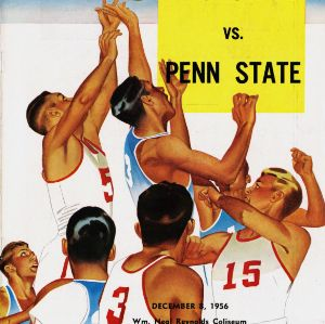 Program, Men's basketball,  North Carolina State versus Penn State, 8 December 1956