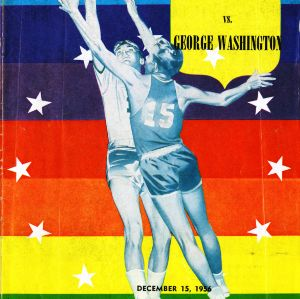 Program, Men's basketball,  North Carolina State versus George Washington, 15 December 1956