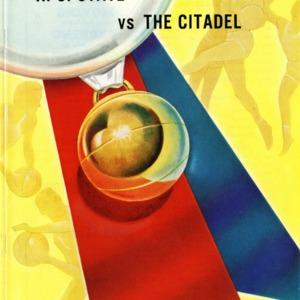 Program, Men's basketball, North Carolina State versus The Citadel, 10 December 1960