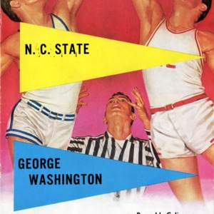 Program, Men's basketball, North Carolina State versus George Washington, 3 December 1960