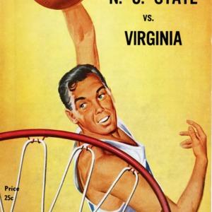 Program, Men's basketball, North Carolina State versus Virginia, 31 January 1961