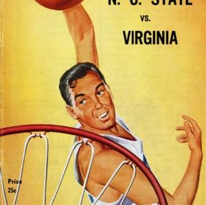 Program, Men's Basketball, North Carolina State College versus University of Virginia, January 1961