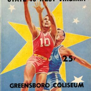 Program, Men's basketball, North Carolina State versus West Virginia, 3 February 1962