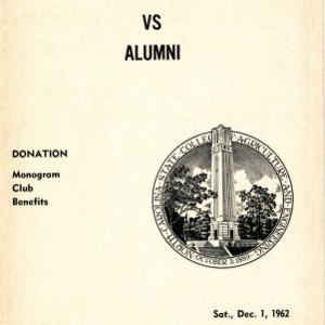 Program, Men's basketball,  North Carolina State Varsity versus Alumni, 1 December 1962
