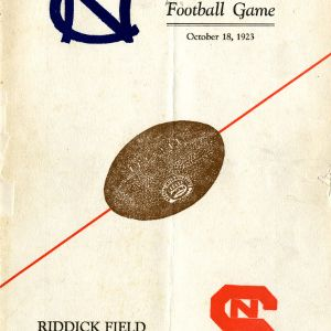 Program, Football, North Carolina State versus University of North Carolina at Chapel Hill, 18 October 1923