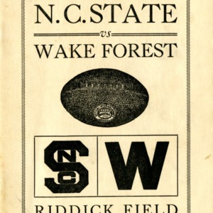 Program, Football, North Carolina State versus Wake Forest, 13 November 1925
