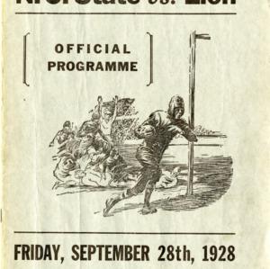 Program, Football, North Carolina State versus Elon, 28 September 1928