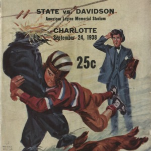 Program, Football, North Carolina State versus Davidson, 24 September 1938