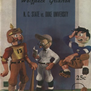 Program, Football, North Carolina State versus Duke, 25 November 1939