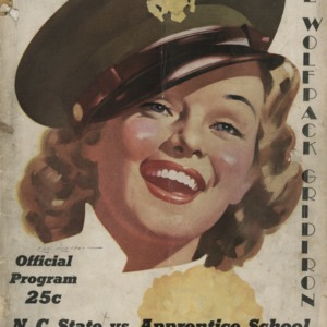 Program, Football, North Carolina State versus Apprentice School, 25 September 1943
